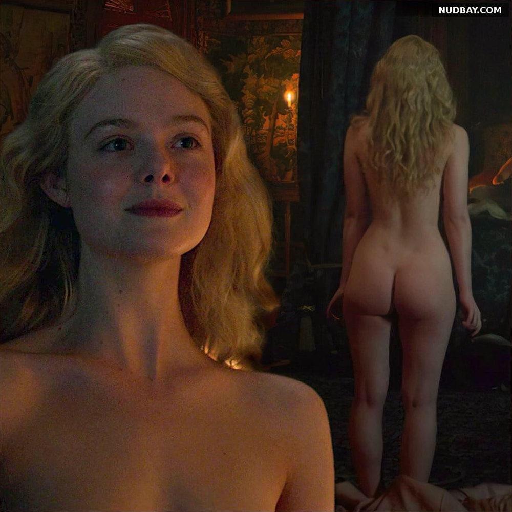 Elle Fanning nude ass