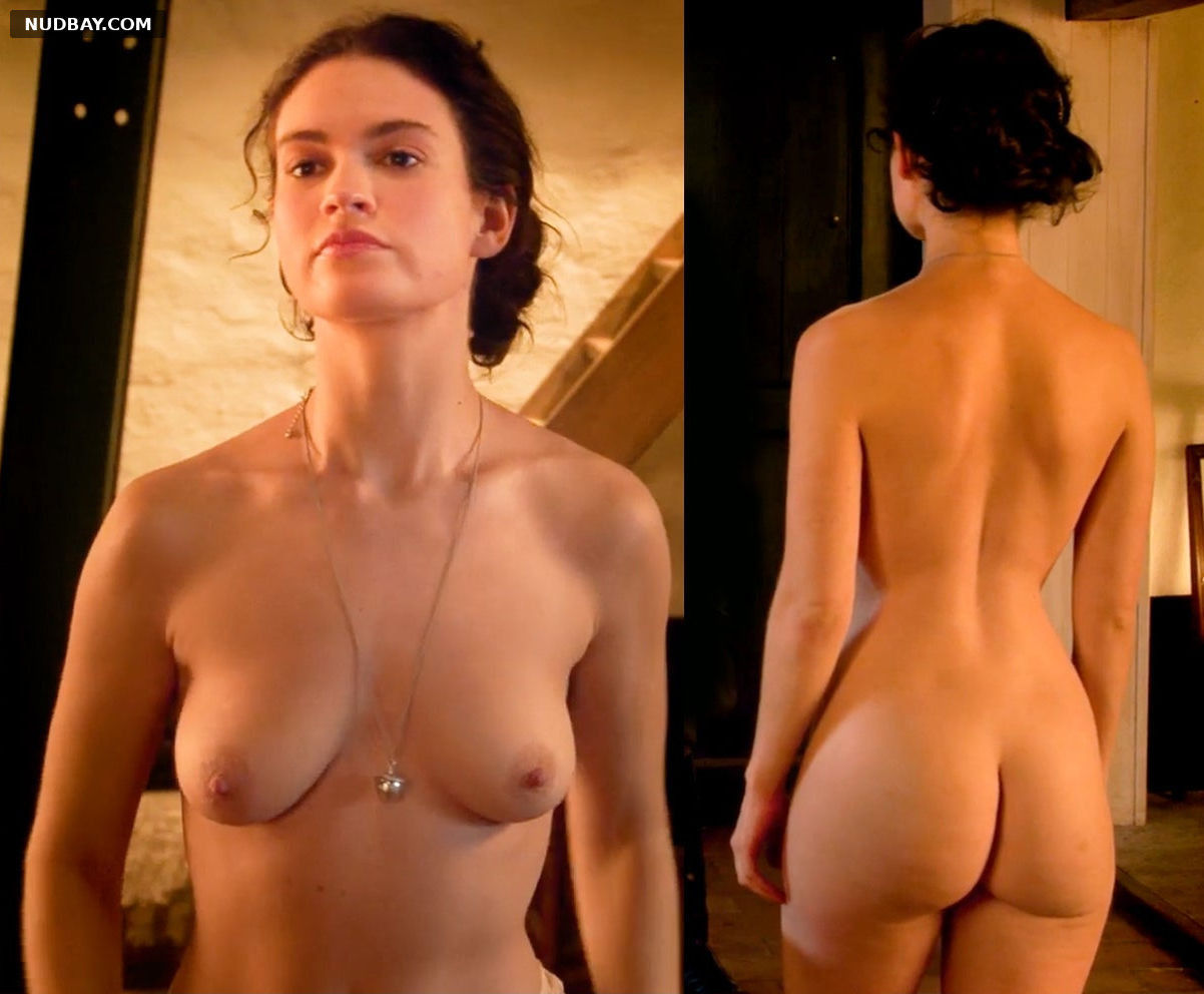 Lily James Nude in The Exception