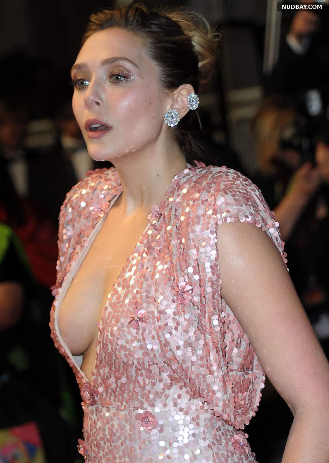 Elizabeth Olsen side boobs