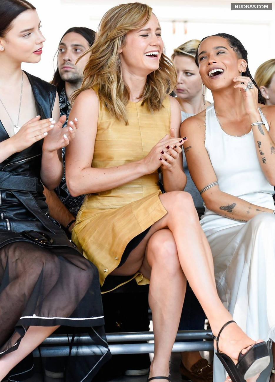 Brie Larson upskirt