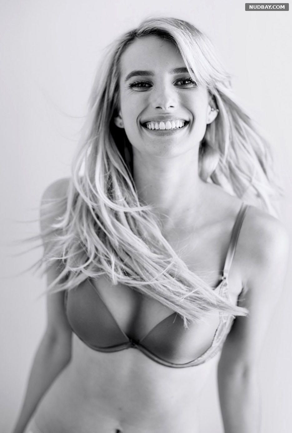 Emma Roberts for Aerie Lingerie Photoshoot