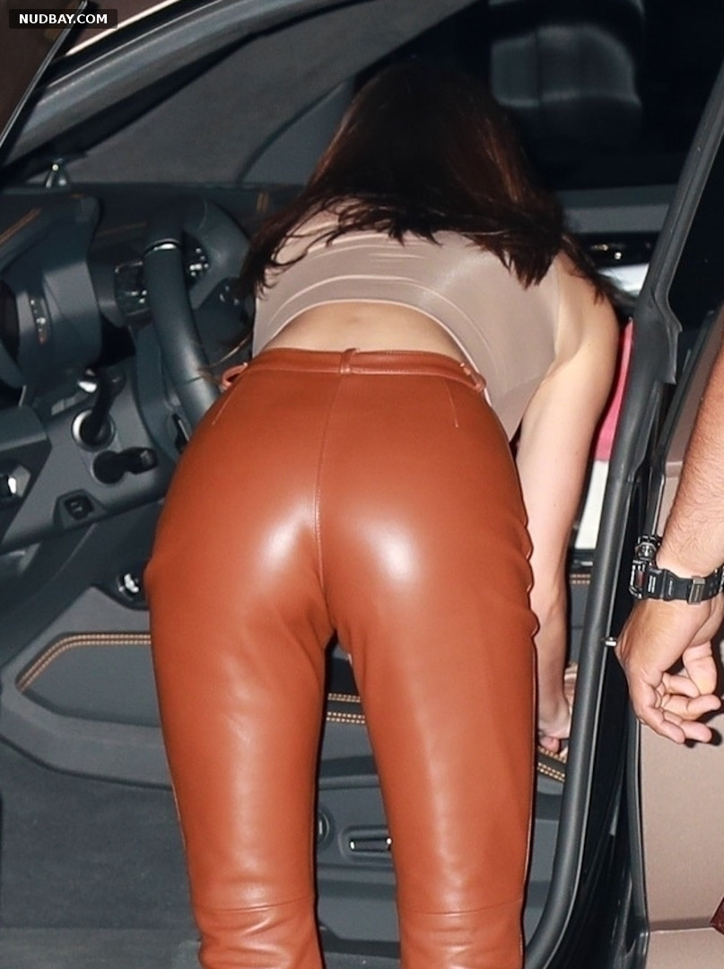 Kendall Jenner ass outside Nobu in Malibu Apr 2021