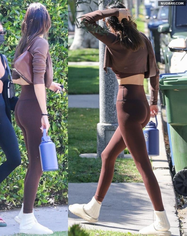 Kendall Jenner ass outside a workout in West Hollywood 1