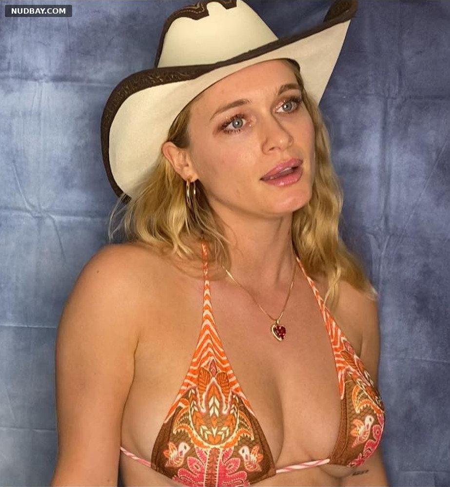 Leven Rambin wearing a bikini top Oct 07 2020