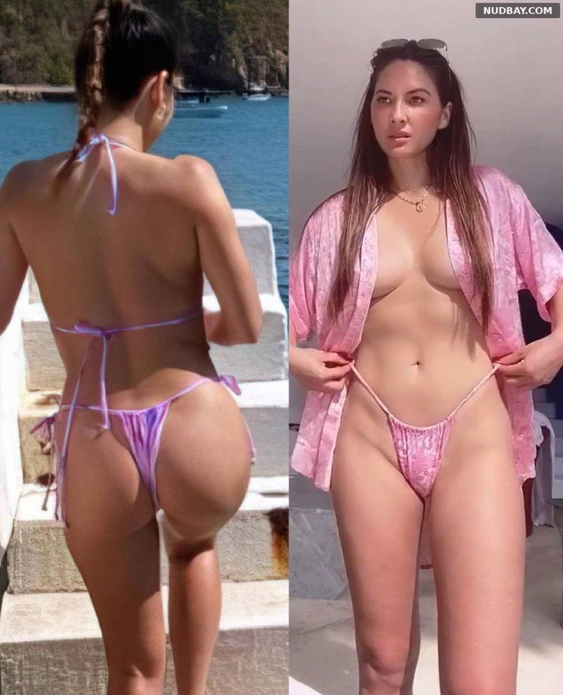 Olivia Munn nude in bikini January 2021 1