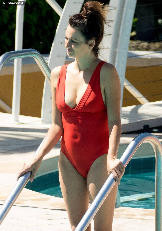 Penelope Cruz In Red Swimsuit 2017