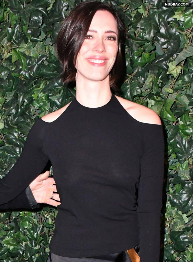 Rebecca Hall See through Harvey Weinstein Pre BAFTAs Dinner