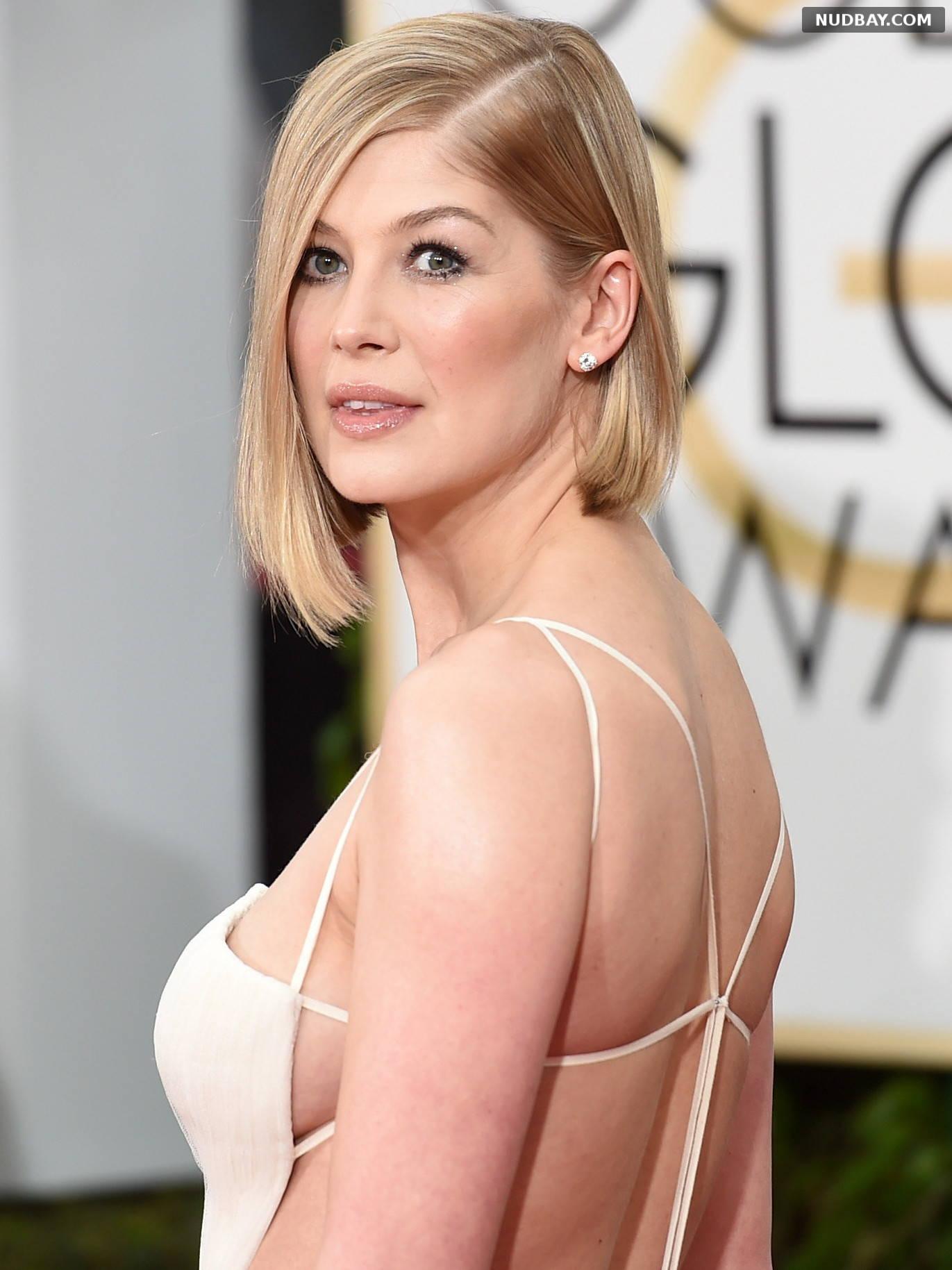Rosamund Pike side boobs