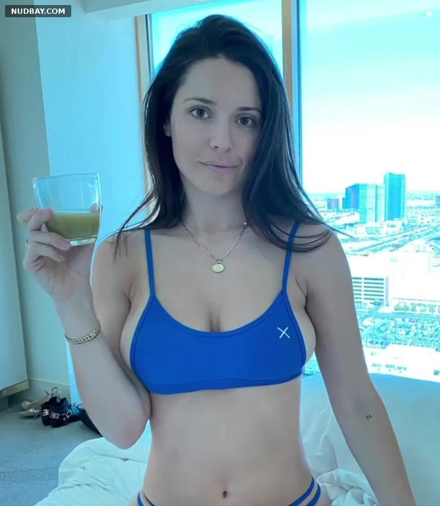 Ali Cobrin in blue bikini May 05 2021