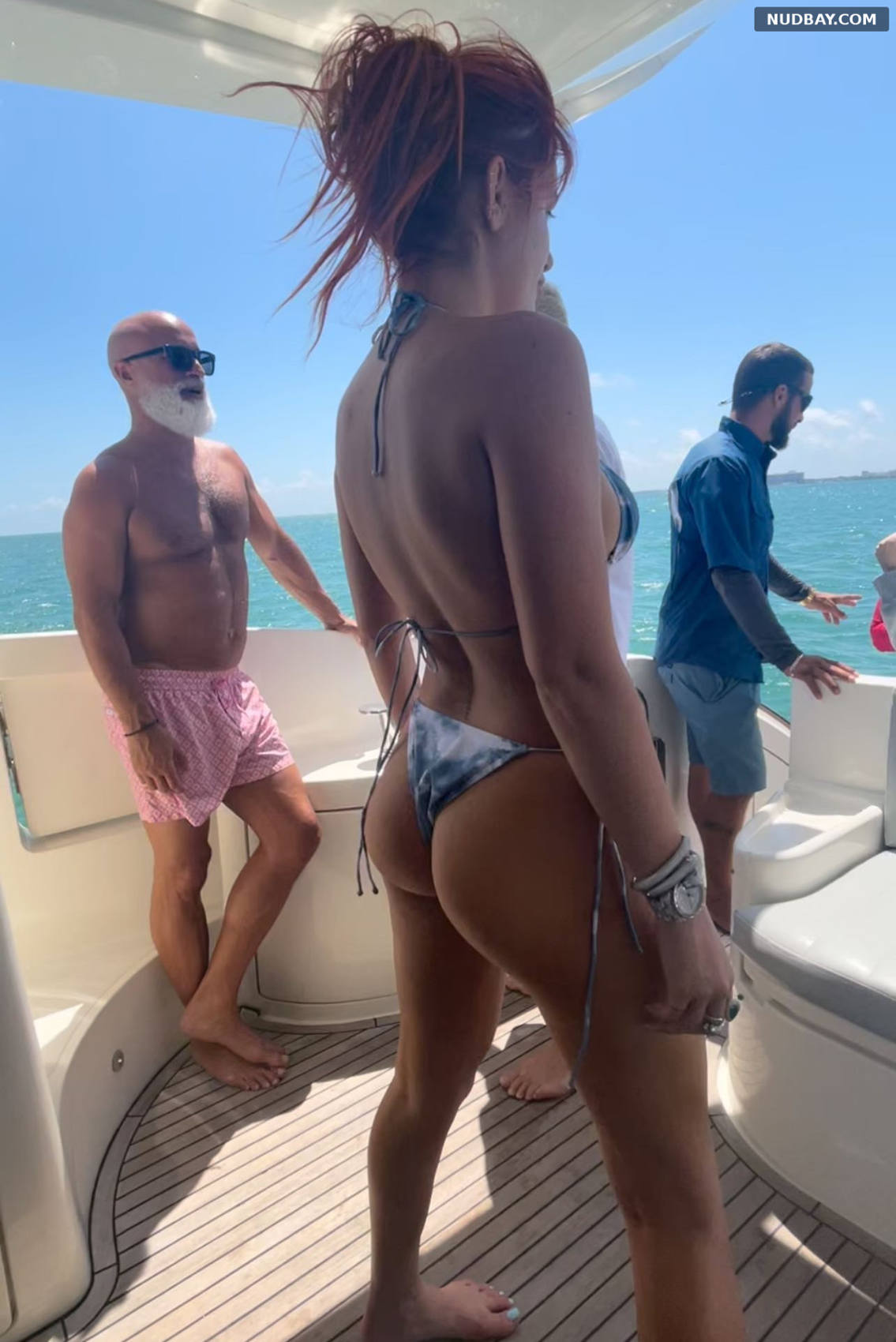 Bella Thorne Ass in Bikini at a Boat May 06 2021