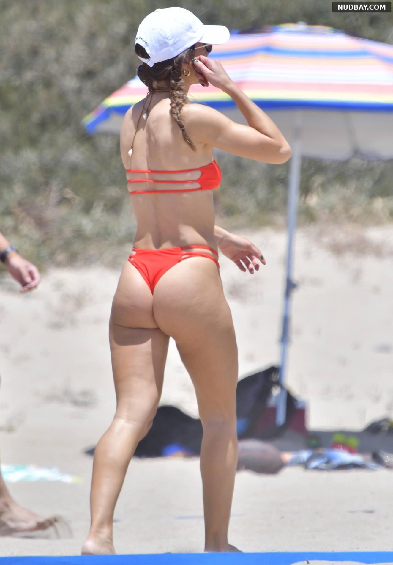Camila Coelho in a bikini while playing beach volleyball in Santa Monica May 262021