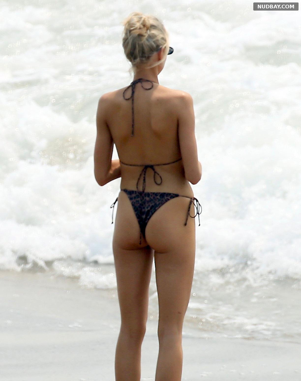 Charlotte McKinney Ass Bikini on the Beach in Malibu 2020
