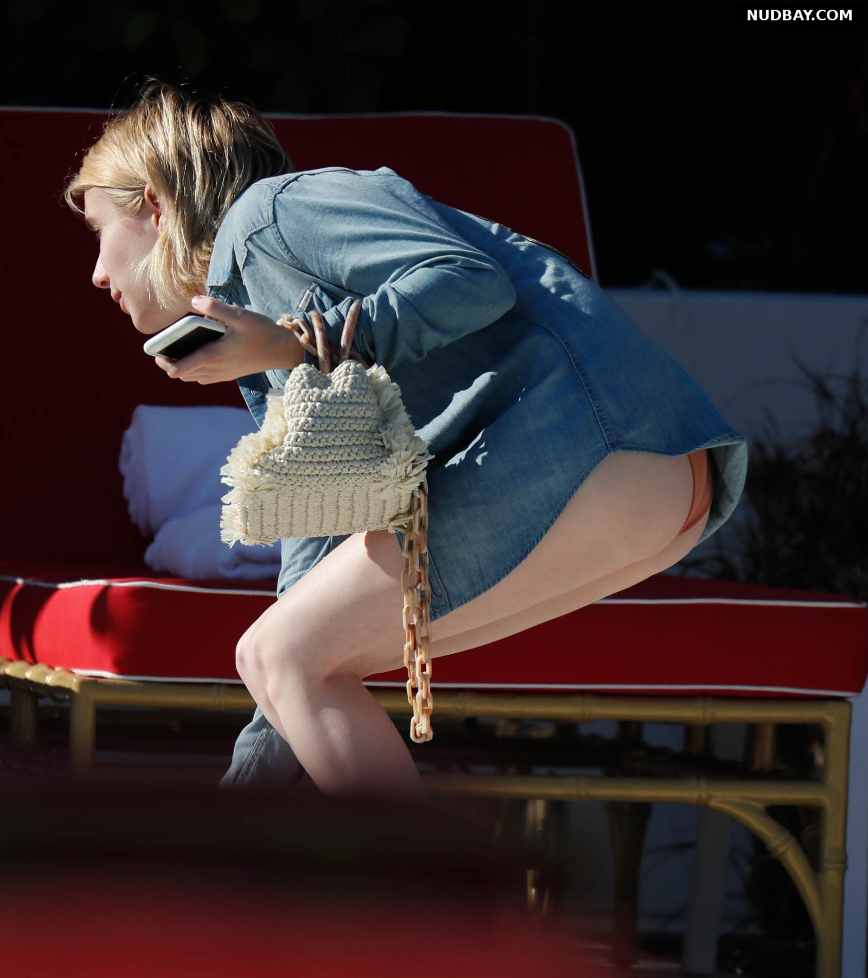 Emma Roberts ass bikini at the beach in Miami Dec 13 2017