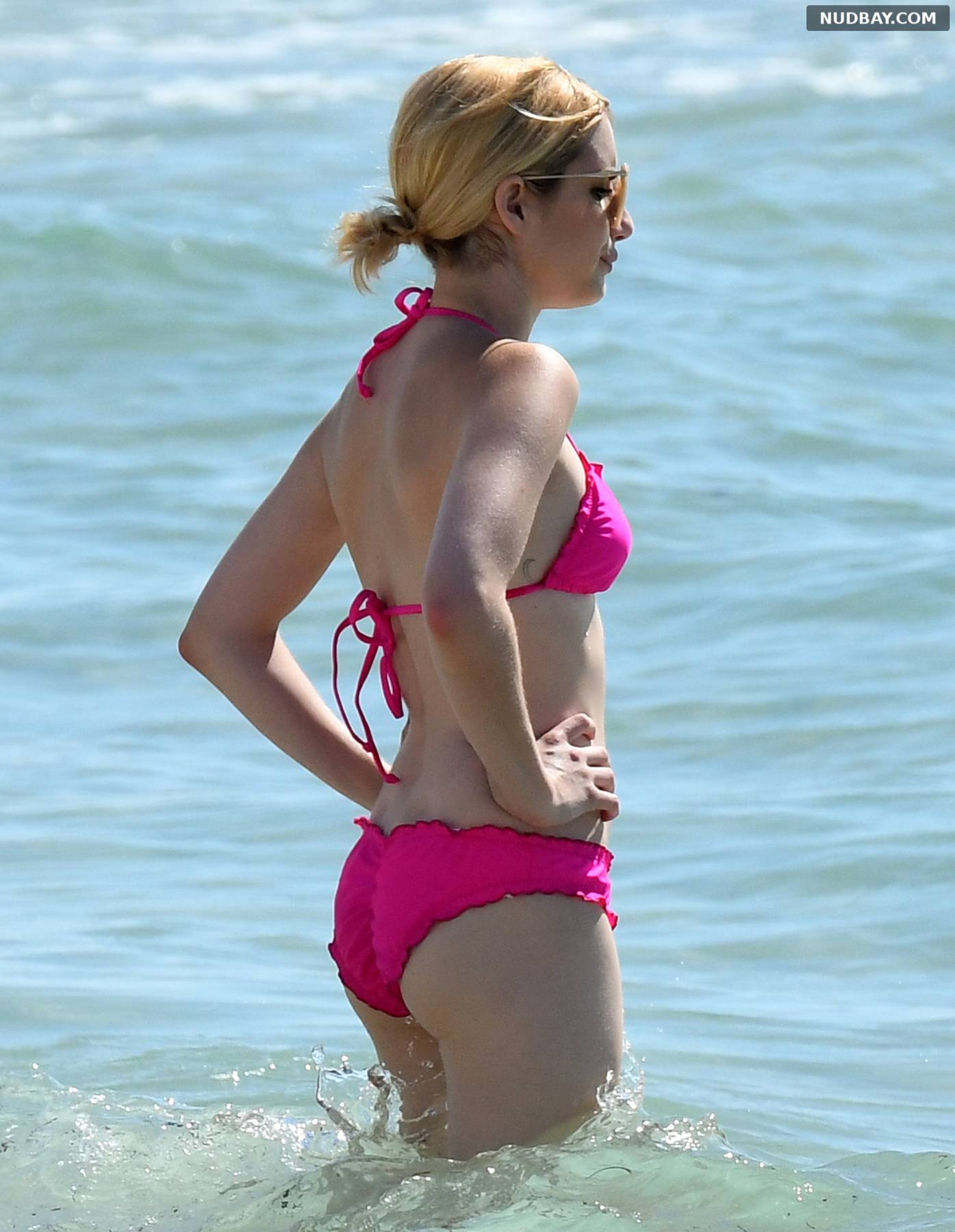Emma Roberts in bikini in Miami Beach Jul 14 2016