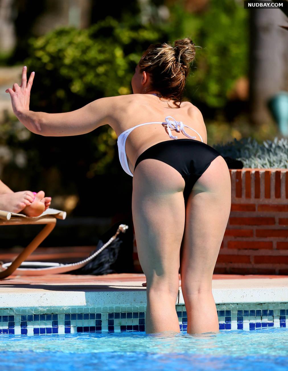 Gemma Atkinson wearing a bikini in Marbella Oct 14 2016