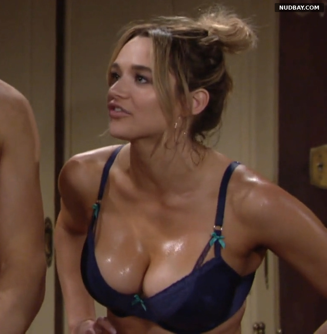 Hunter King boobs The Young and the Restless