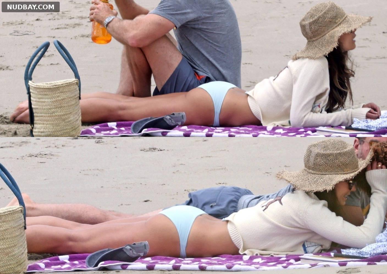 Jordana Brewster on beach stroll in Santa Monica May 02 2021 1