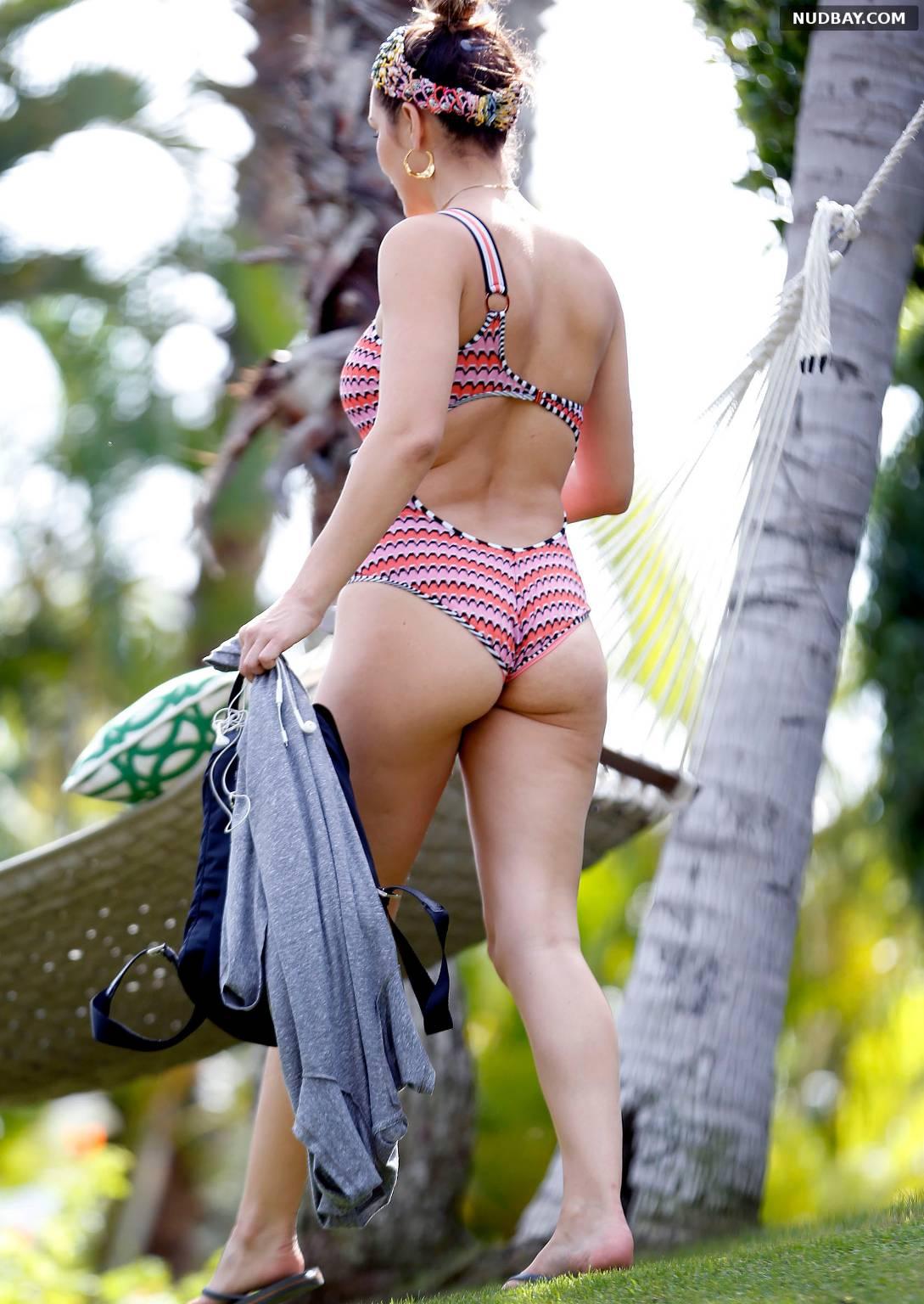 Katharine McPhee Ass Wearing a Swimsuit in Hawaii Jan 18 2018