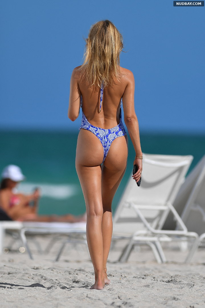 Kimberley Garner Ass in a blue thong swimsuit in Miami Beach May 11 2021 1