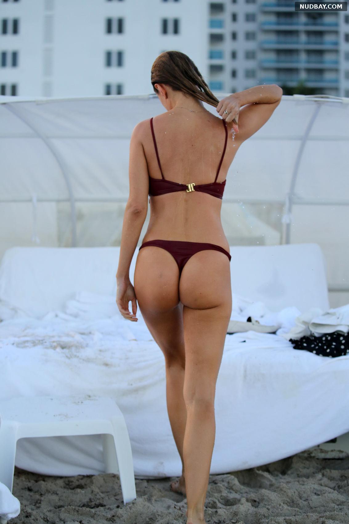Kimberley Garner in a bikini on the beach in Miami Feb 30 2018