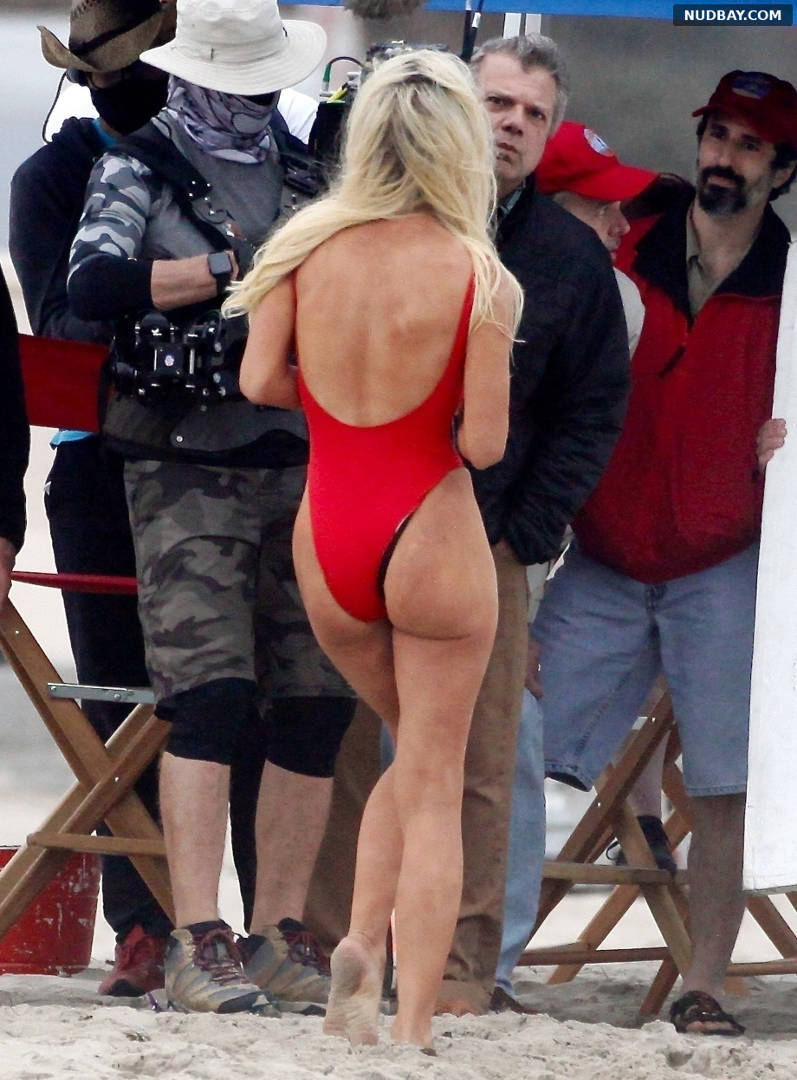 Lily James Ass on the beach in Malibu May 13 2021