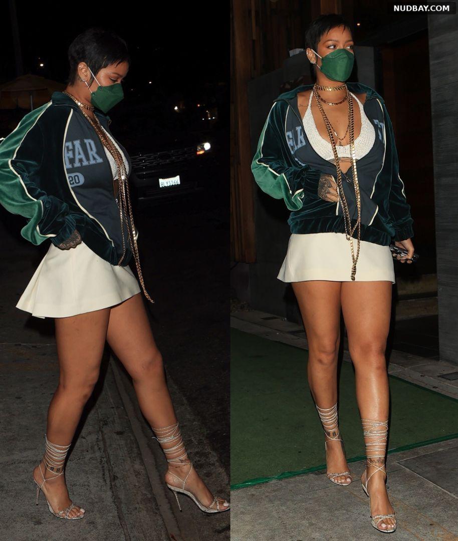 Rihanna at Nobu in West Hollywood May 17 2021 1
