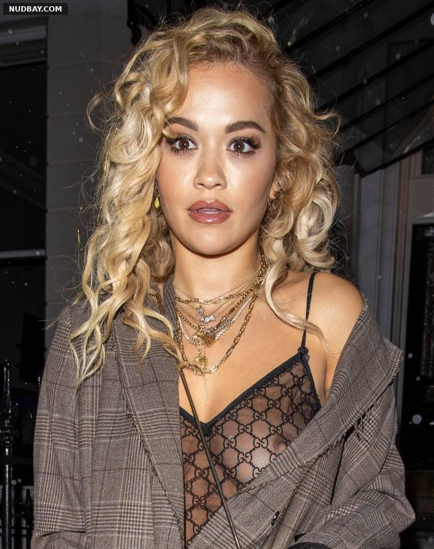 Rita Ora outside a recording studio in London Oct 13 2020 1