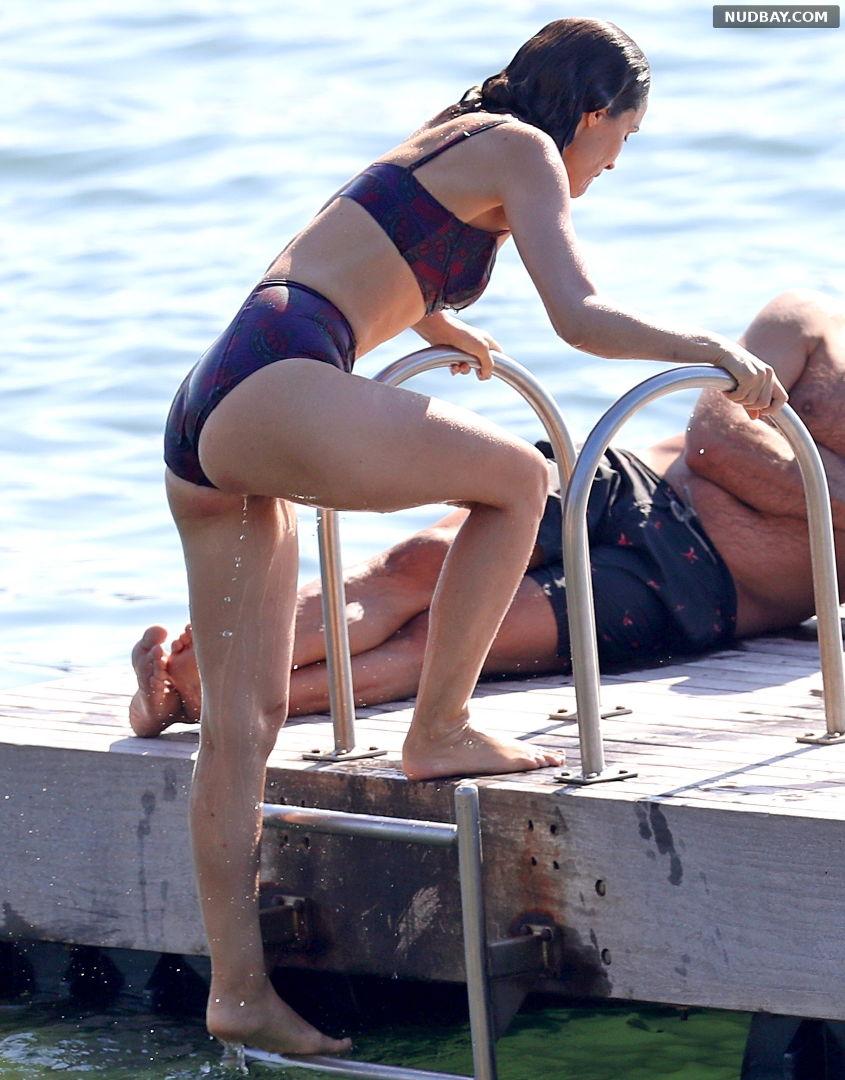 Rose Byrne wears swimwear at the beach in Sydney May 05 2021 1