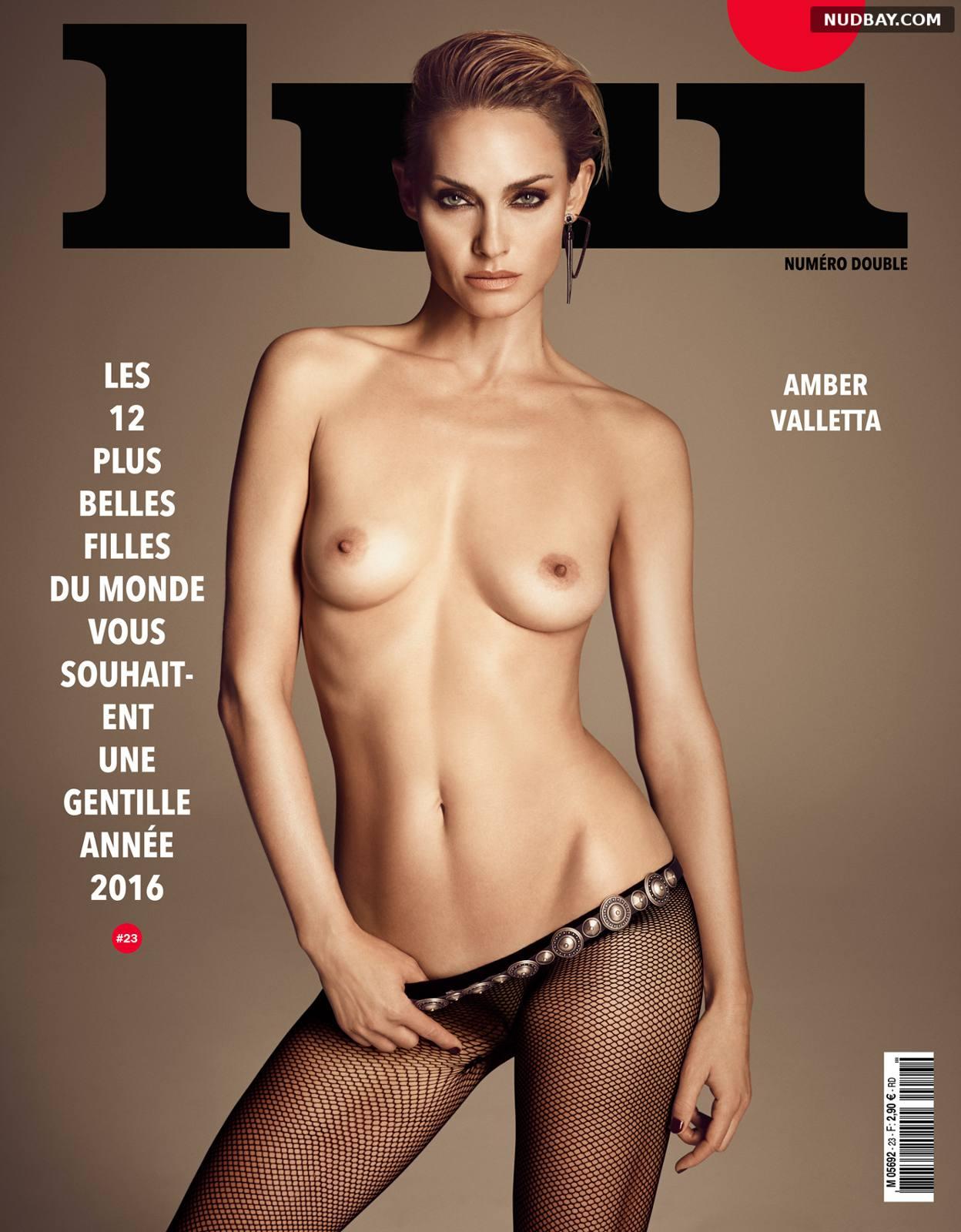 Amber Valletta Nude for Lui Magazine December 2015