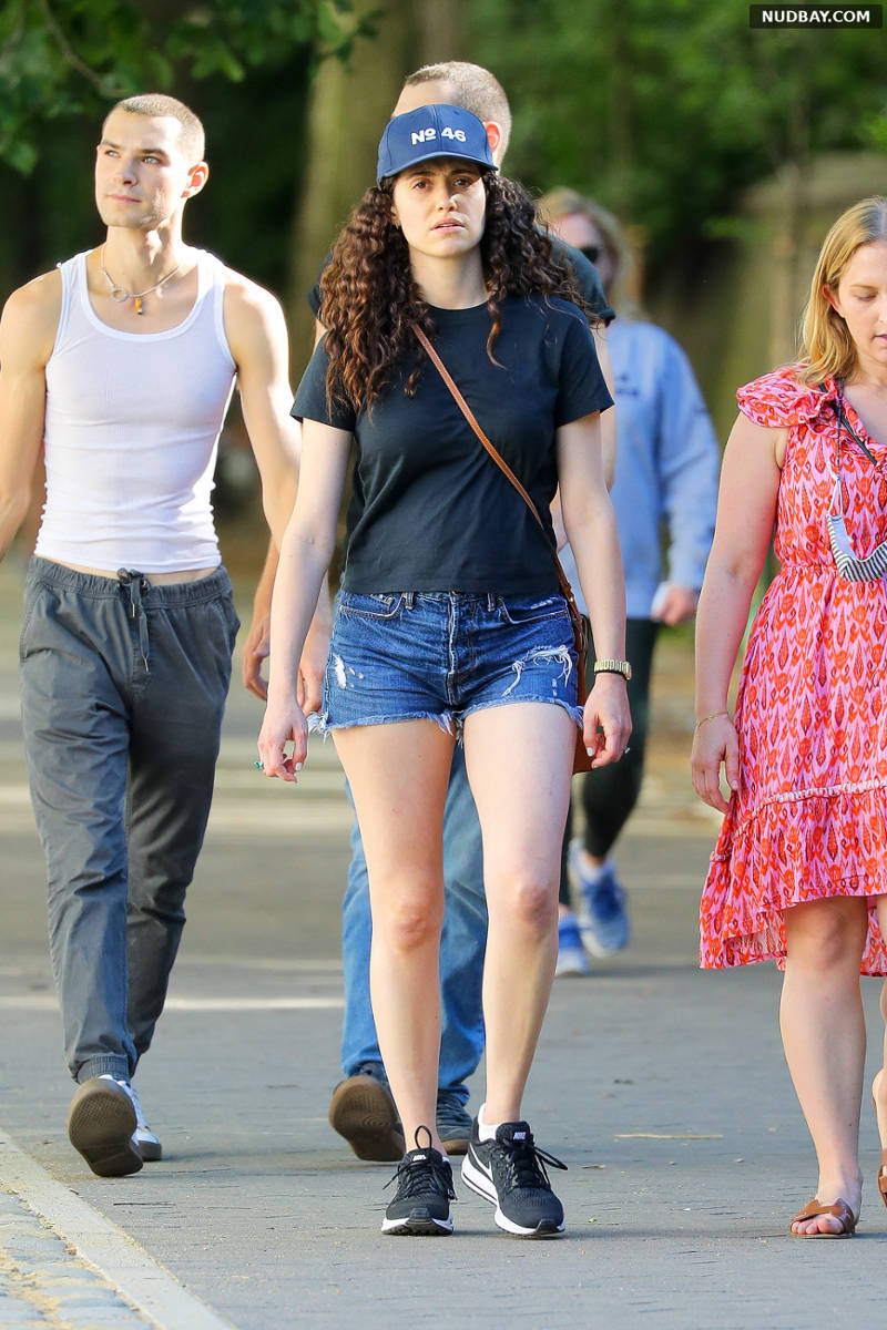 Emmy Rossum leggy out in Central Park NYC Jun 16 2021