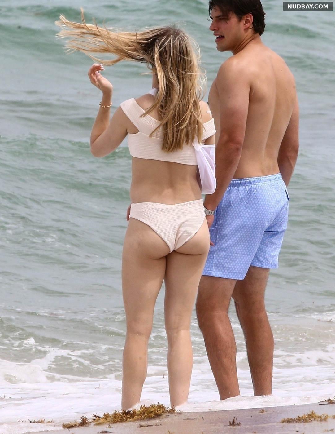 Eugenie Bouchard Booty on the beach in Miami Jun 18 2021