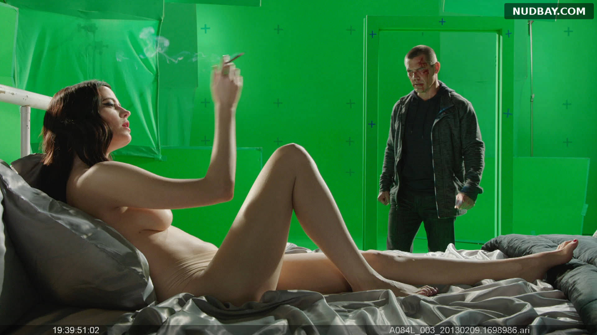 Eva Green nude in Sin City A Dame to Kill For BTS (2014)