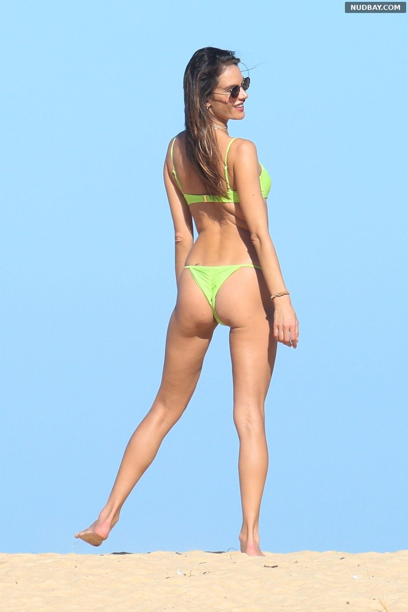 Alessandra Ambrosio Nude Ass at the beach in Trancoso Jul 30 2021