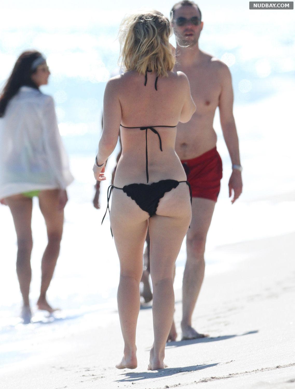 Alice Eve Ass in black bikini on Miami Beach Nov 24 2012