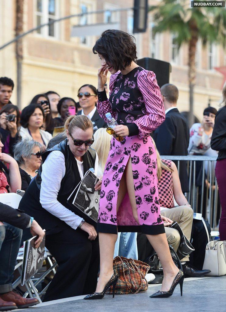 Evangeline Lilly Leggy at Peter Jackson's Hollywood Walk of Fame Ceremony 2014 1