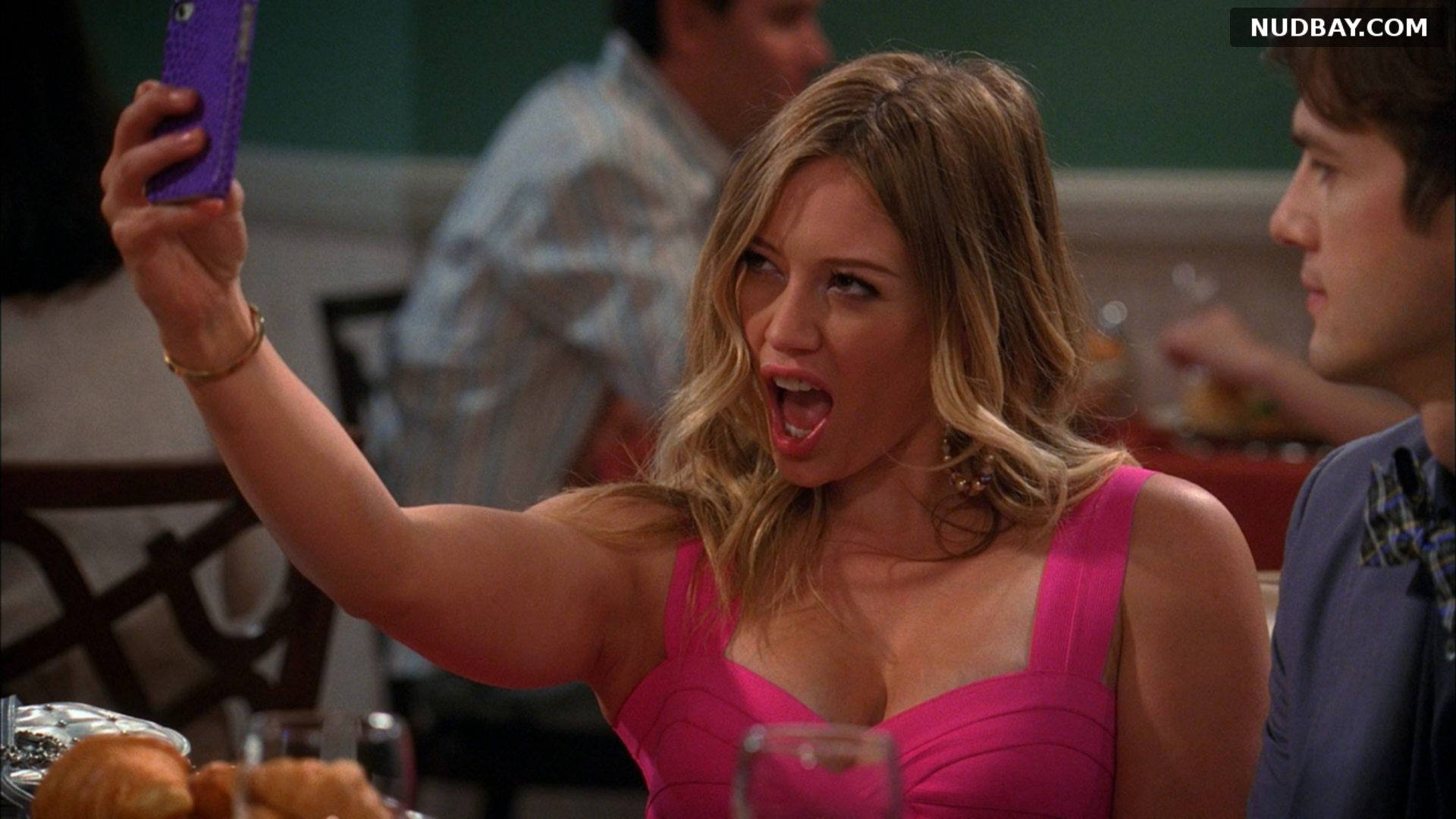 Hilary Duff Cleavage in Two & A Half Men S010 E23 (2013)