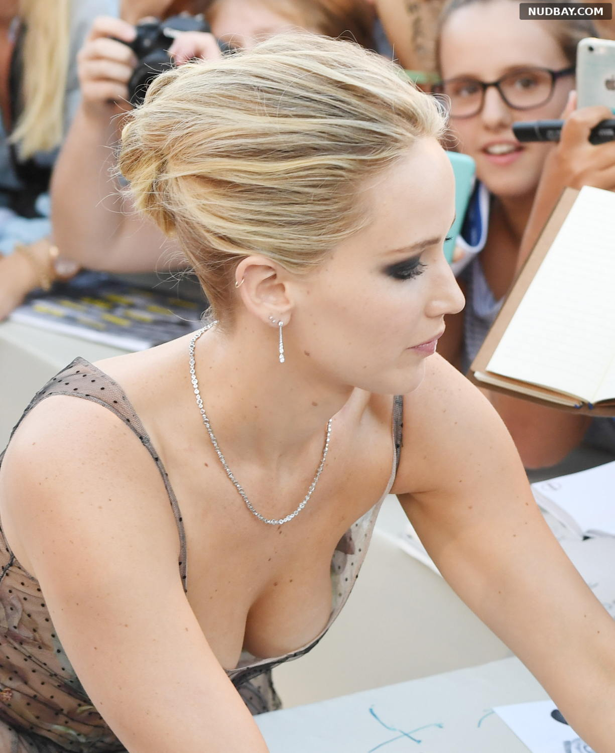 Jennifer Lawrence boobs at 74th Venice Film Festival in Italy Sep 05 2017