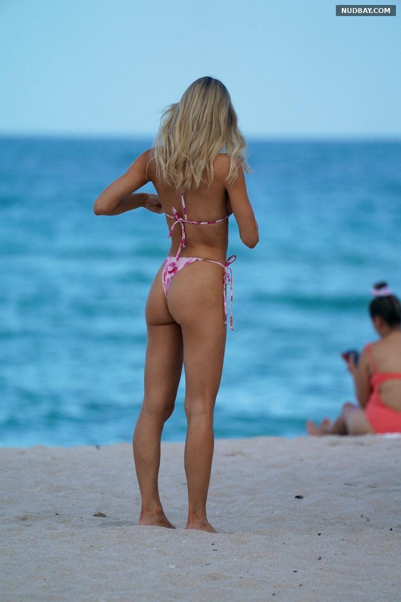 Joy Corrigan Ass on the beach in Miami Jul 08 2021