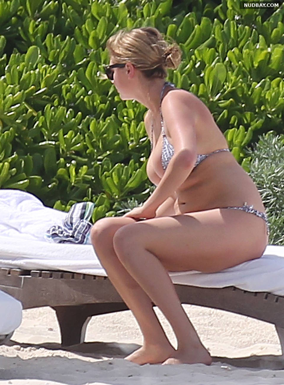 Kate Upton wearing a bikini at a beach in Mexico Jul 15 2014