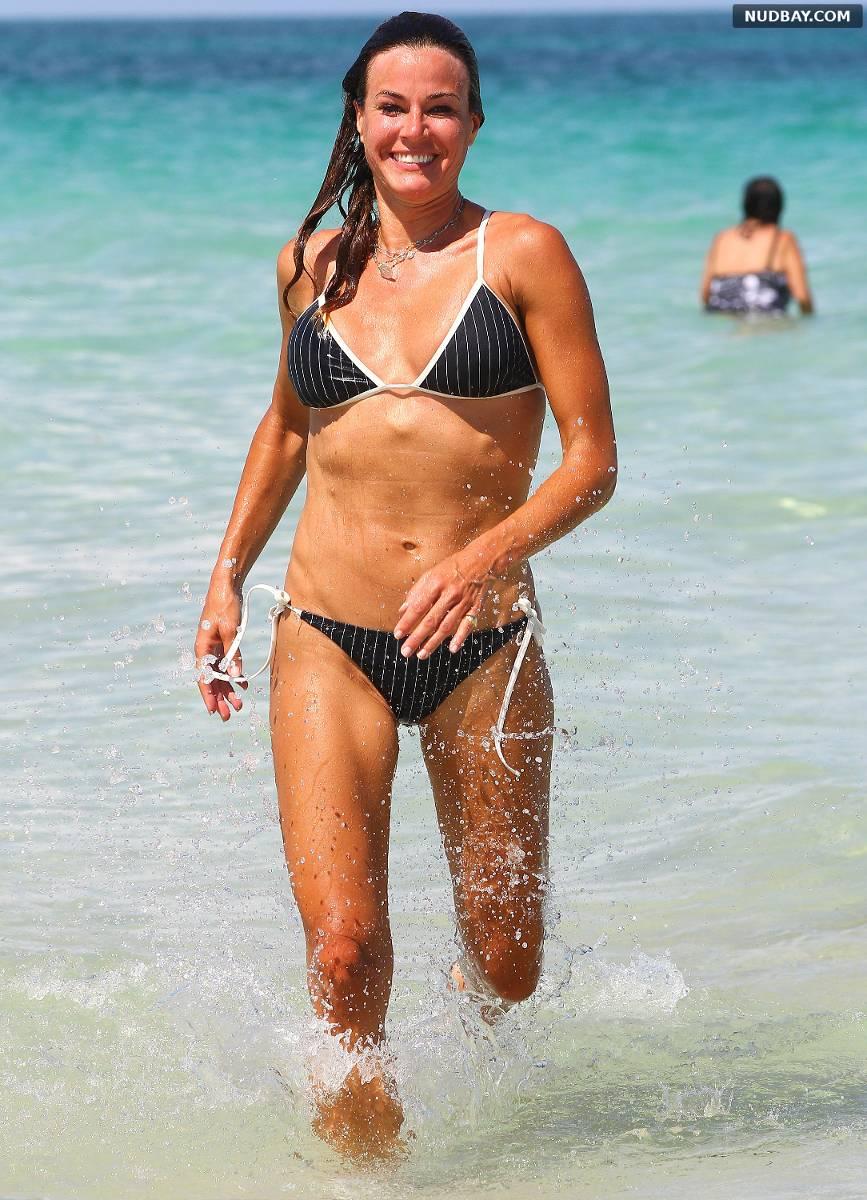 Kelly Bensimon in the ocean in Miami Beach July 17 2015