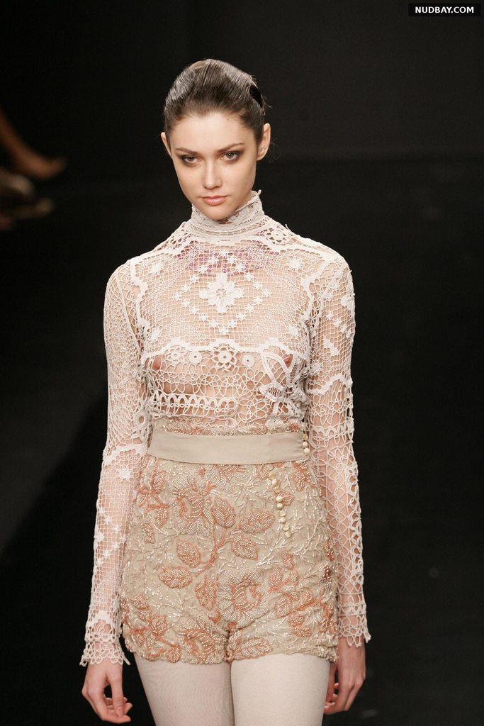 Ksenia Kahnovich braless in see through dress 2021 1