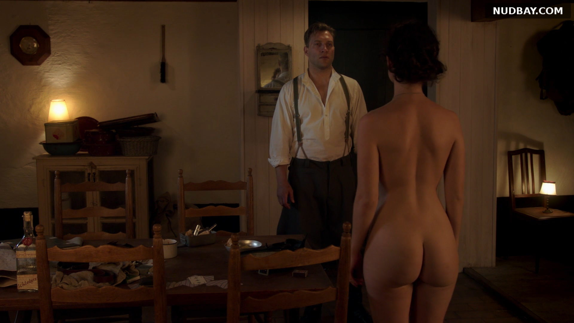 Lily James nude ass in the movie The Exception (2016)