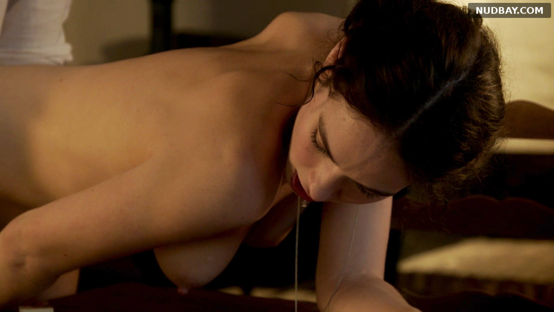 Lily James nude in The Exception (2016)