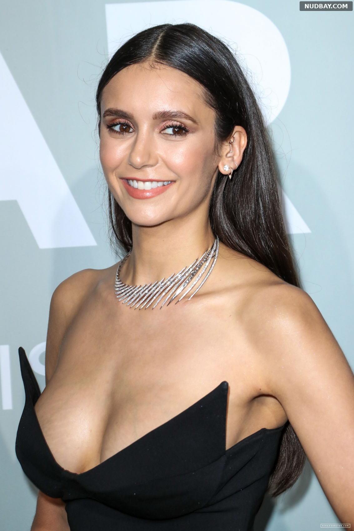 Nina Dobrev boobs amfAR Cannes Gala 2021 Jul 16 2021