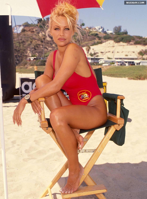 Pamela Anderson Baywatch Set September 13 1994