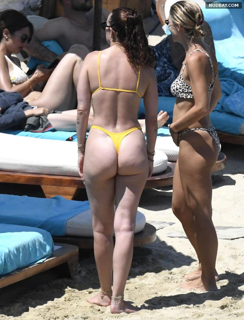 Rumer Willis Ass at the Beach in Mykonos Jul 14 2021