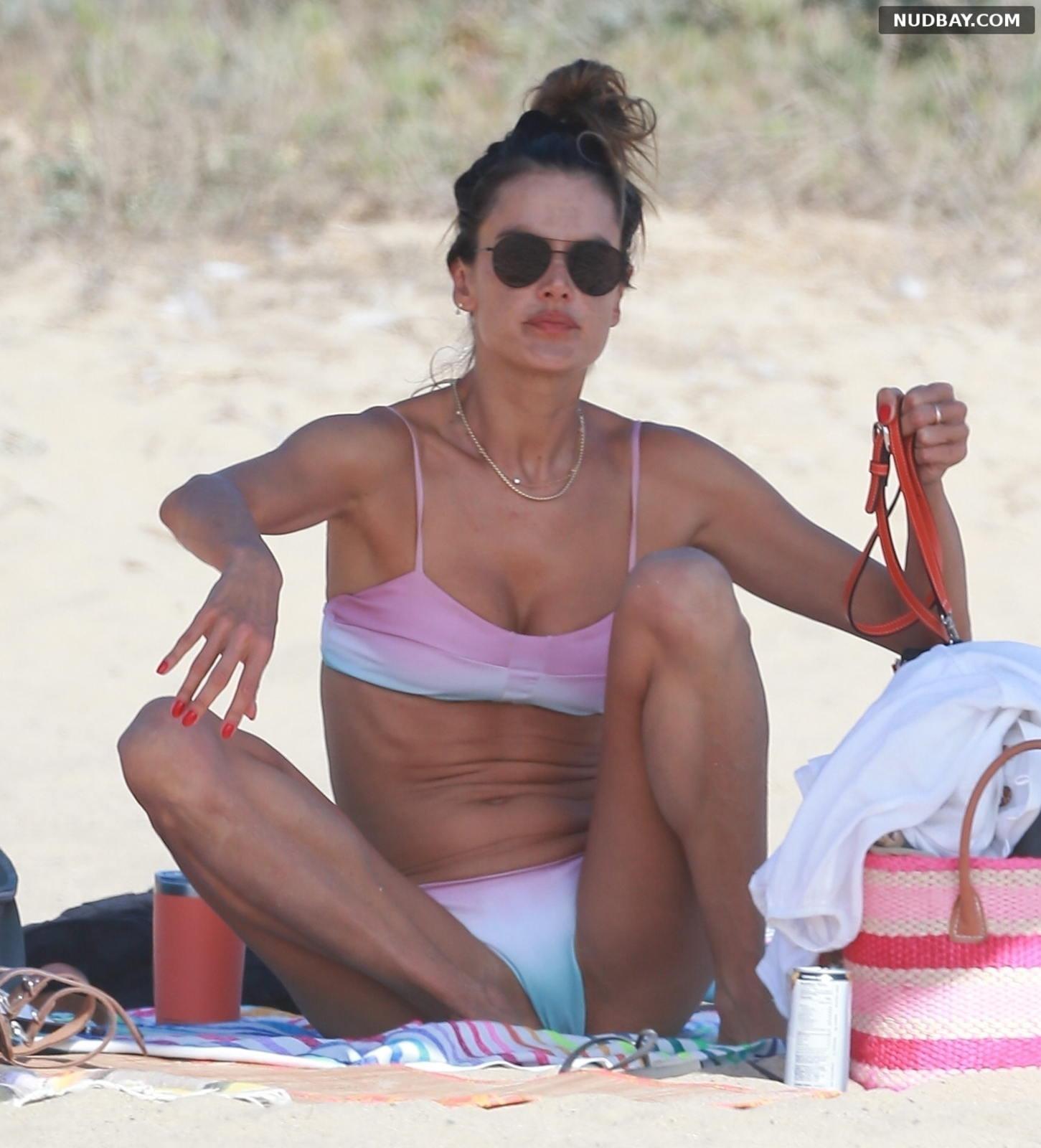 Alessandra Ambrosio pussy on the beach in Santa Monica Sep 19 2020
