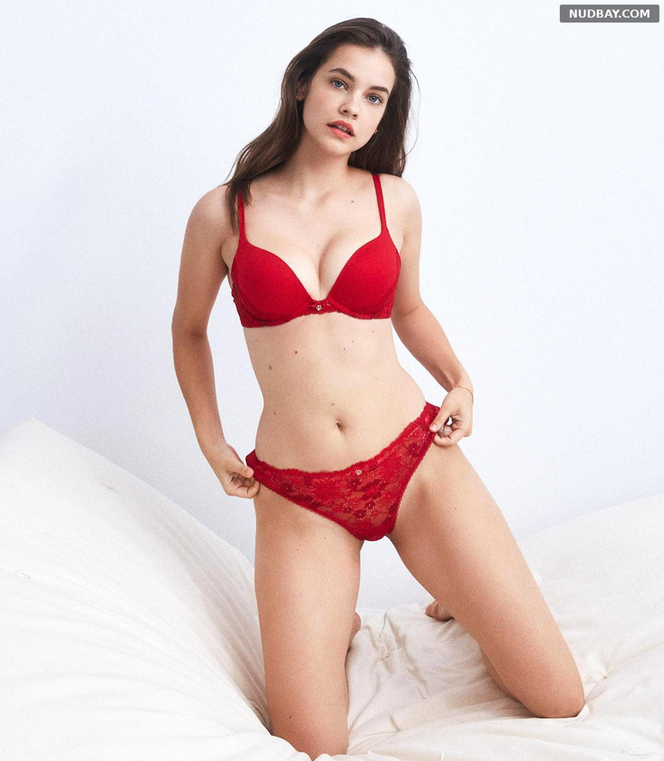 Barbara Palvin Sexy wearing red lingerie 2021