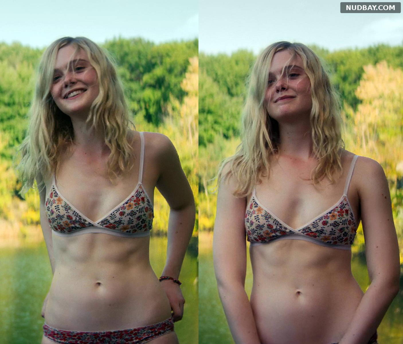 Elle Fanning Sexy in bikini – All the Bright Places (2020)