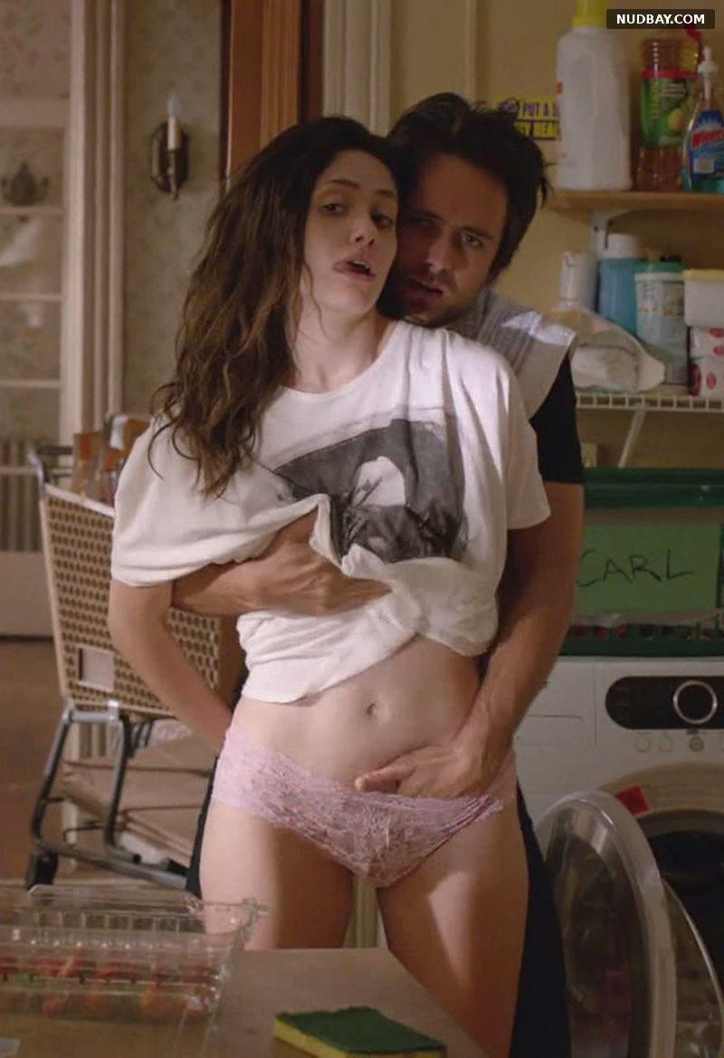 Emmy Rossum Nude hand in panties Shameless
